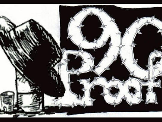 90 Proof logo designed by the late John Manner, the band's original guitarist.
