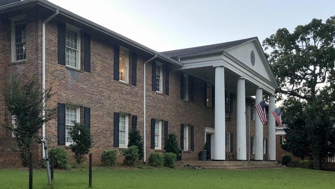 The Lambda Chi Alpha fraternity house on Milledge Avenue.