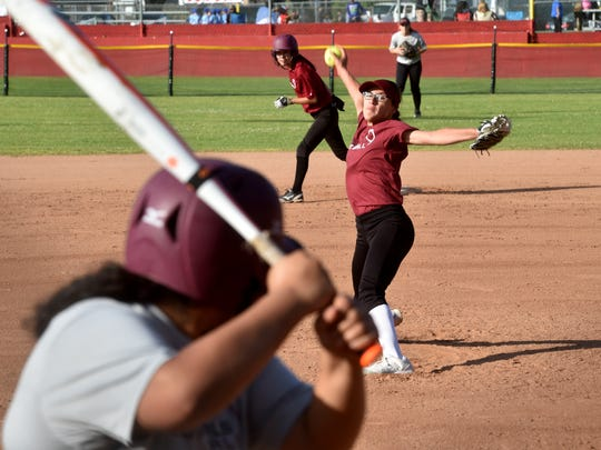 Santa Paula pitcher Mia Barrozo has opened her sophomore season with 50 straight shutout innings.