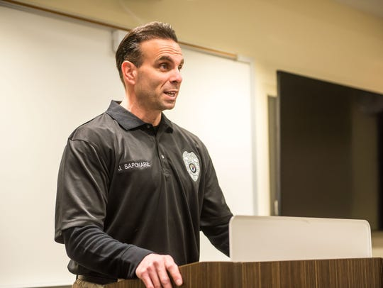 CCTEC Law Enforcement teacher Joe Saponare delivers
