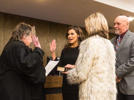 Ashleigh Udalovas is sworn into the Millville City