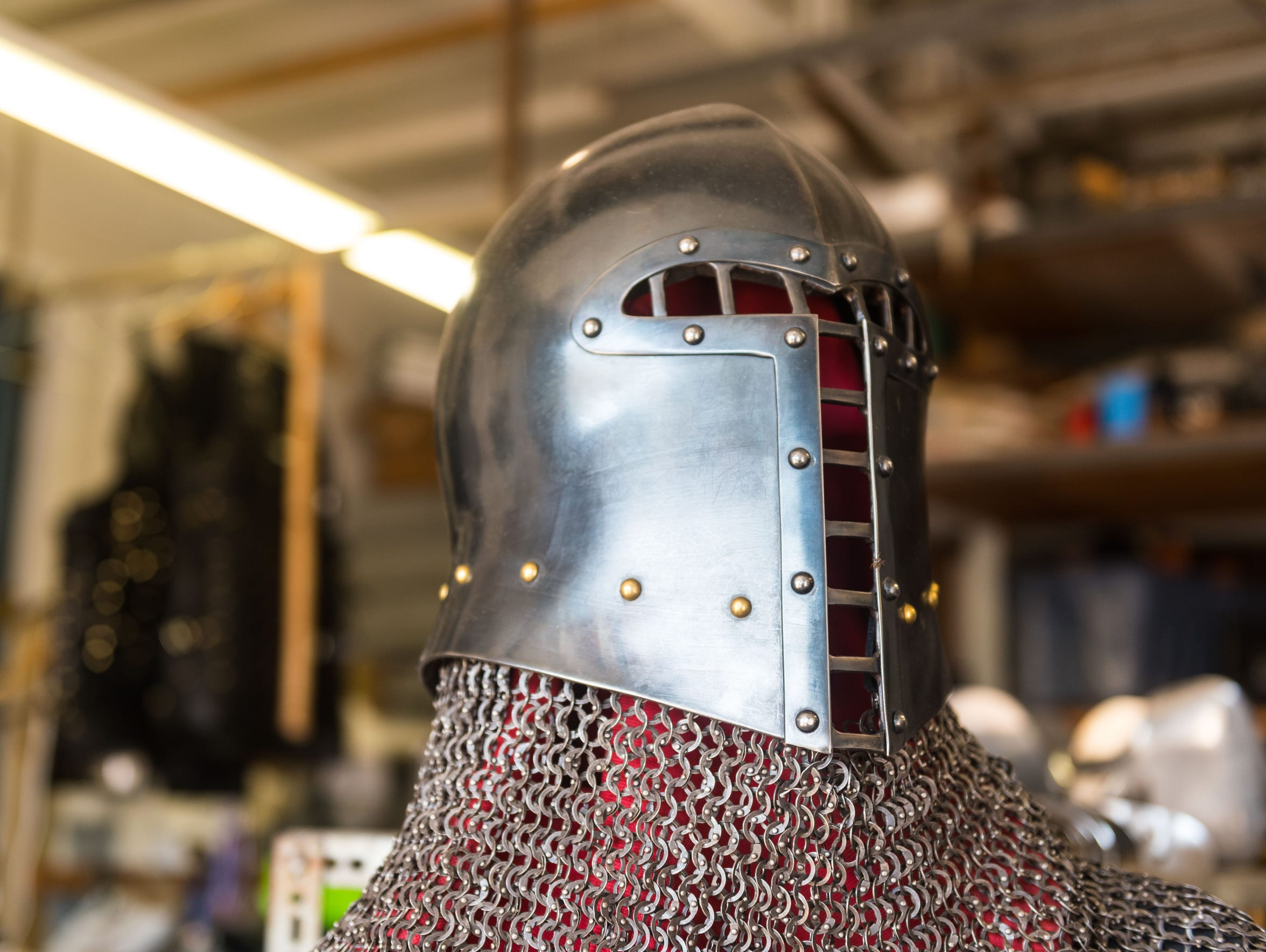 Armor and chain mail at the Icefalcon Armory in Buena