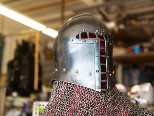 Armor and chain mail at the Icefalcon Armory in Buena on Thursday, March 29.