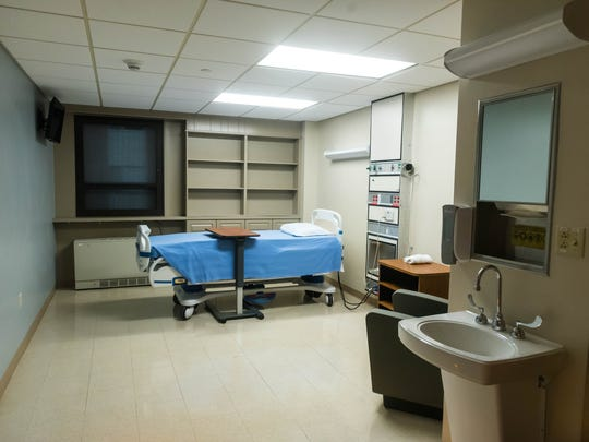 A patient room in the new Inpatient Acute Medical Detoxification and Addiction Treatment Center at Inspira Health Center Bridgeton on Wednesday, June 27.