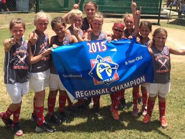 The Tri County Crush 8-and-under softball team captured the Southwest Regional Softball Tournament championship over the weekend in Magnolia, which had 13 teams from Arkansas, Louisiana, Texas and Oklahoma competing.