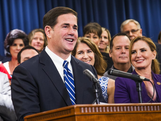 Gov. Doug Ducey announces a new plan to increase compensation
