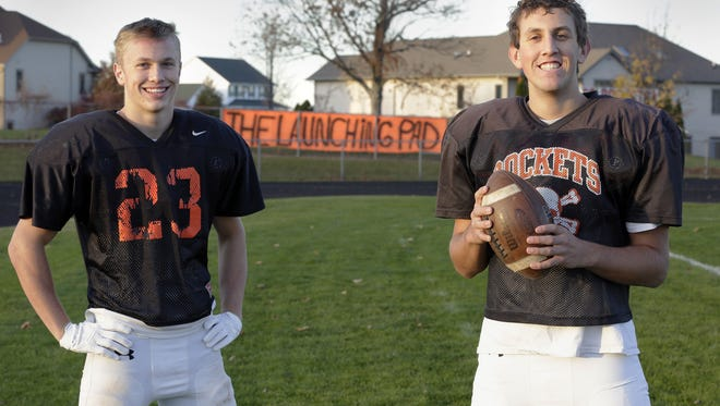 Former Cedar Grove-Belgium alums Reid Hilbelink, left, and Josh Weiss were sought after football recruits but gave up the sport at the urging of God.