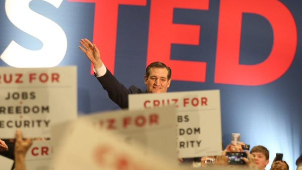 GOP presidential candidate Ted Cruz in Rochester on April 15, 2016.