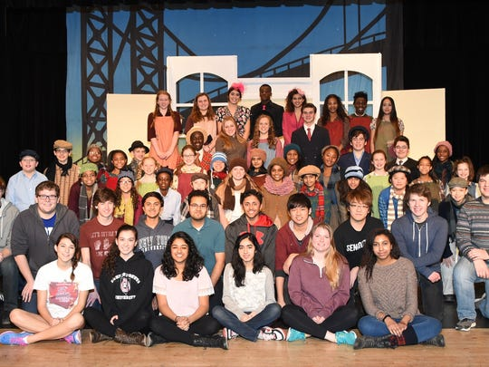 "Students at The Wardlaw-Hartridge School in Edison presented the musical ""Annie,"" on the weekend of March 6-8. The show's three-day run included Friday and Saturday evening performances and a Sunday afternoon matinee finale. Carlin Schildge of Westfield as Annie, Abe Golding of North Plainfield as Daddy Warbucks, Julia Linger of Cranford as Grace and Antonia Santangelo of Rahway as Miss Hannigan led the cast. Director Becky Randazzo, producer Elizabeth Howard, music director Sharon Byrne and choreographer Macada Brandl guided the students the weekend of performances."