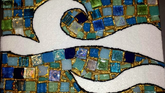 """This mosaic, made during the American Foundation for Suicide Prevention's annual Survivor Day, shows that humans can be """"whole"""" despite flaws. Participants at an upcoming teen support event in Milford also will use art to cope with loss."""