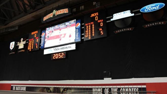 Among the new Daktronics video displays for 2016 will be a new scoreboard at the DakotaDome.