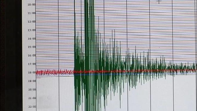A seismograph measures the intensity of earthquakes. A seismograph measures the intensity of earthquakes.