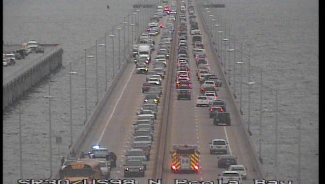 Gulf Breeze Police are asking motorists to be more cautious on the Pensacola Bay Bridge after seeing an estimated 20 percent increase in traffic collisions this year.