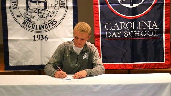 Carolina Day held a college-signing ceremony on Wednesday for golfer Candler Rice.