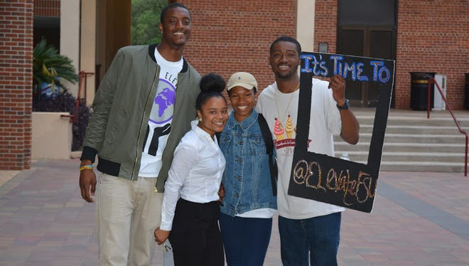The new BSU executive board pictured from left to right: Felix Pendleton, Diamond Hill, Mone't King, Rashard Johnson.