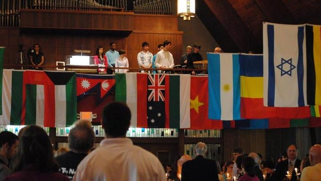 Participants during the interfaith prayer service for the 10th anniversary of Sept. 11.