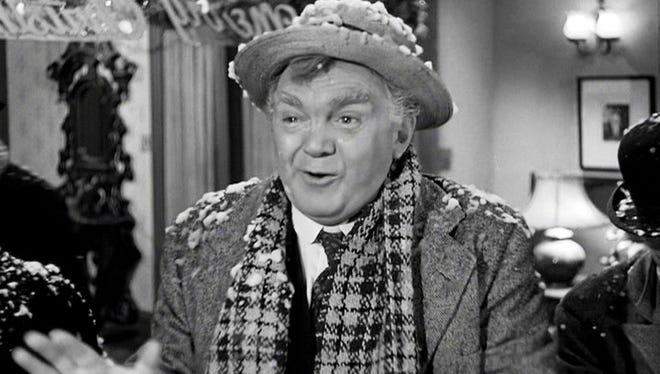 """Thomas Mitchell as Uncle Billy in """"It's a Wonderful Life."""""""