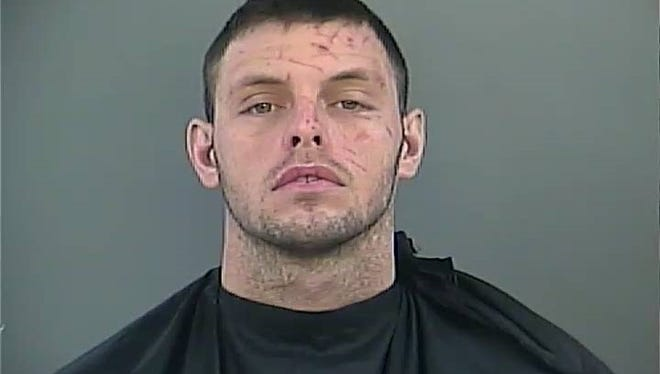 Chance Partain, shown in a December 2015 arrest mugshot.