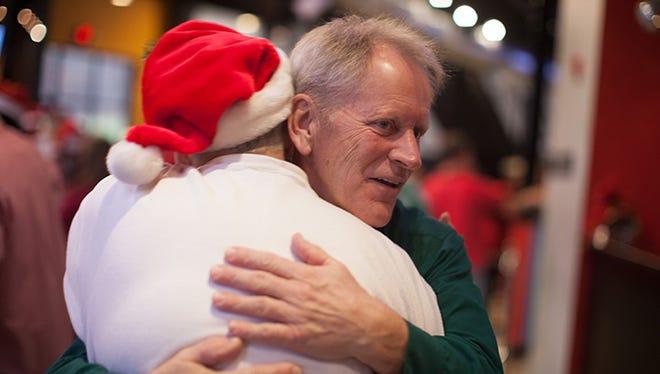Hugs abound at Deck the Halls.