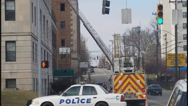 Emergency crews responded to a 3-alarm fire at an apartment building in Walnut Hills on Saturday morning.