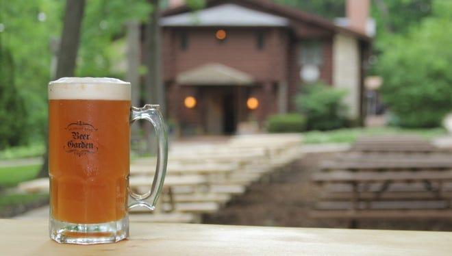 The Hubbard Park Beer Garden is open.