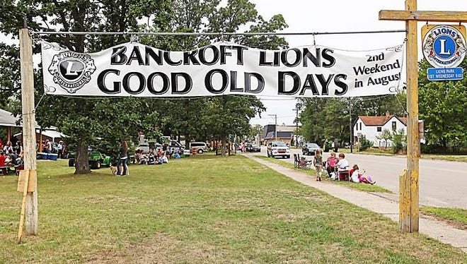 The 2017 Bancroft Good Old Days will be held Aug. 12-13, 2017 at Bancroft Lions Park on Main Street in Bancroft.