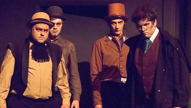 """Male ensemble of """"Sweeney Todd"""""""