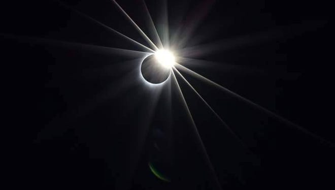 Ashlee Marie sent in this photo of the total solar eclipse.