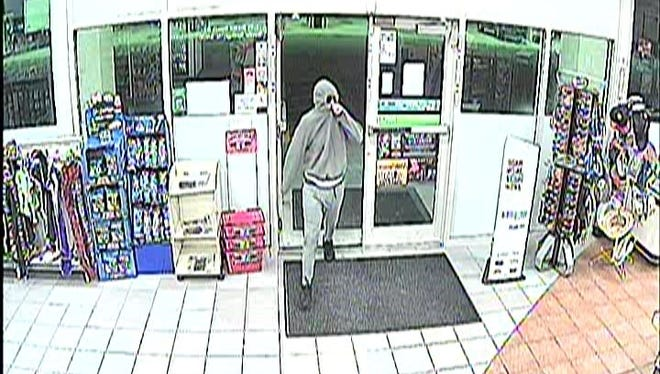 Southwest Florida Crime Stoppers is asking for the public's help to identify and track down a man who authorities say robbed a Bonita Springs convenience store Tuesday, April 10, 2018.