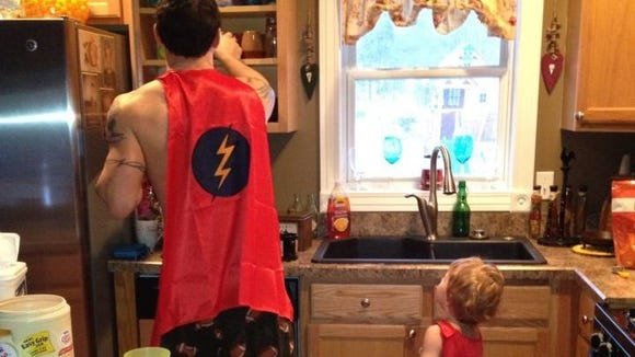 Some fathers just get it. Roger Towne and son Cole are ready to save the world.