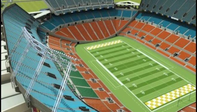 Renderings of the renovated Citrus Bowl in Orlando