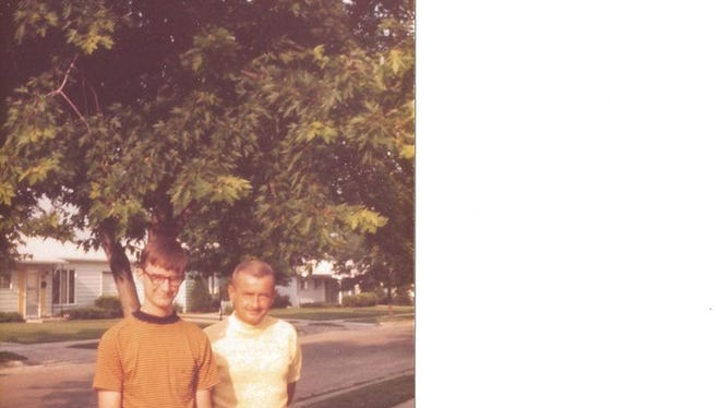 With my father Richard Metcalfe when I was in high school.
