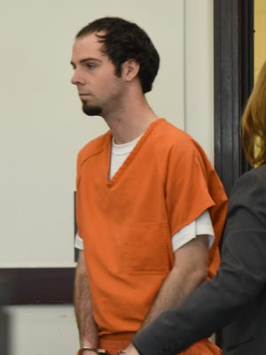 Christopher Drew McLawhorn appears in court Thursday, March 16, 2017 in connection to the death of Tiffany Ferguson inside her Wedgewood Park apartment.
