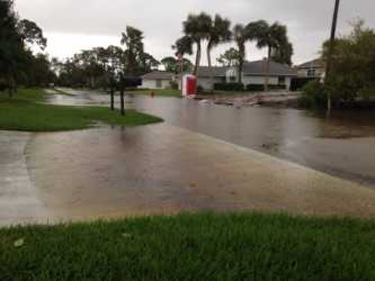 One residential road in Sebastian remained flooded