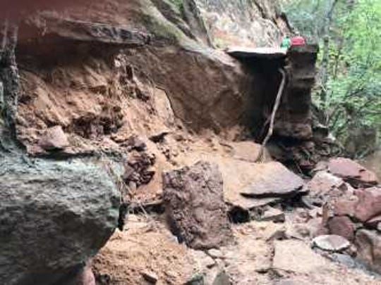 Heavy damage in the Refrigerator Canyon section of