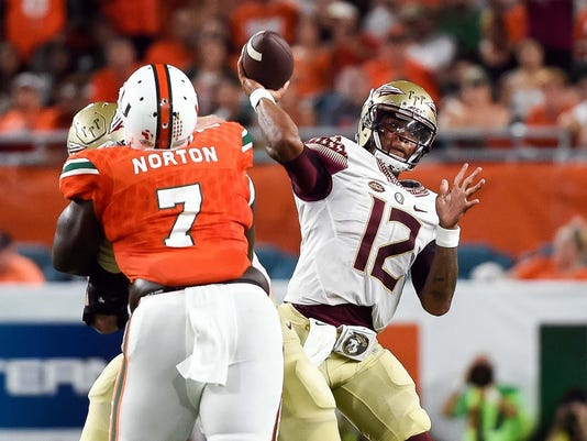 NCAA Football: Florida State at Miami