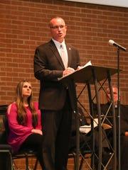 TBI Deputy Director Jason Locke speaks during the Hendersonville