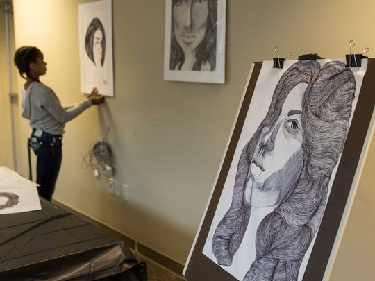 It being her first year showing at Spring into the Arts, artist Jamari Taylor is excited to show off her large variety of portraits.