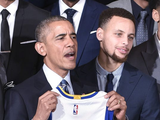 Barack Obama Stephen Curry