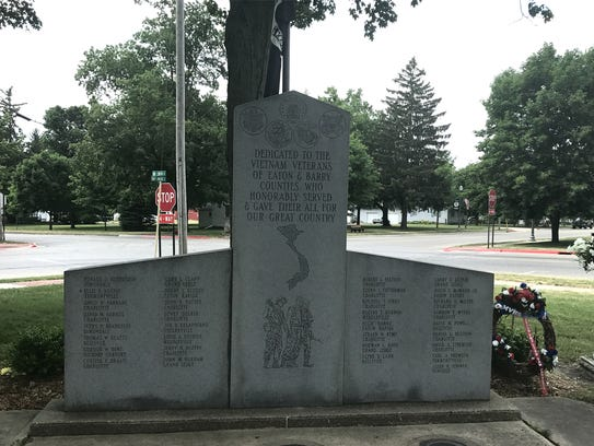 A monument in the heart of Vermontville commemorates