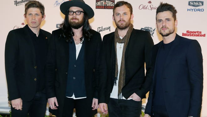 The Kings of Leon — from left, Matthew Followill, Nathan Followill, Caleb Followill and Jared Followill — will headline the Jack Daniel's Bash on Broadway concert on New Year's Eve.