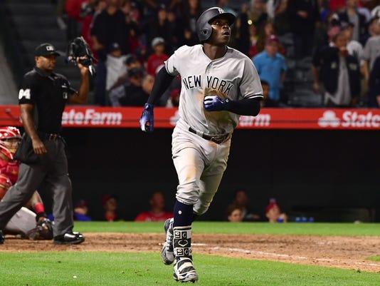 USP MLB: NEW YORK YANKEES AT LOS ANGELES ANGELS S BBA LAA NYY USA CA
