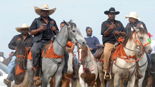 Riders at the Step-N-Strut Trail Ride.