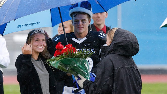 Horseheads seniors Ben Clark and Mia Strollo were crowned homecoming king and queen at the Raider's home football game Saturday.