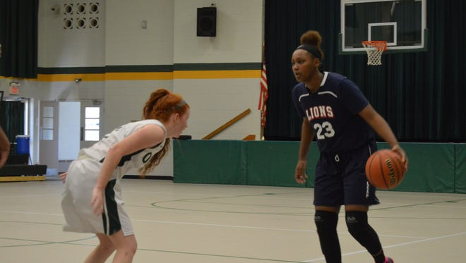 LEAP Academy's Brazil Harvey-Carr, right, leads South Jersey in scoring this winter.