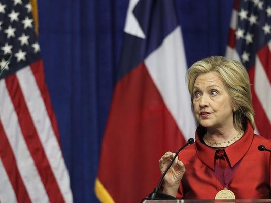 Hillary Clinton Attends The Barbara Jordan Inaugural Gold Medallion Leadership Award Ceremony