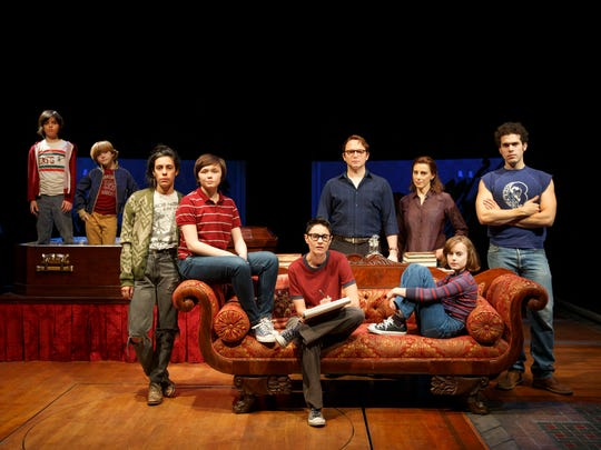"""Oscar Williams and the cast of """"Fun Home."""""""