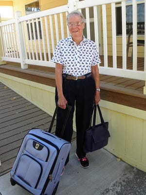 Witesman prepares to leave her Yerington home on Sept. 4 for a trip to Washington, D.C.