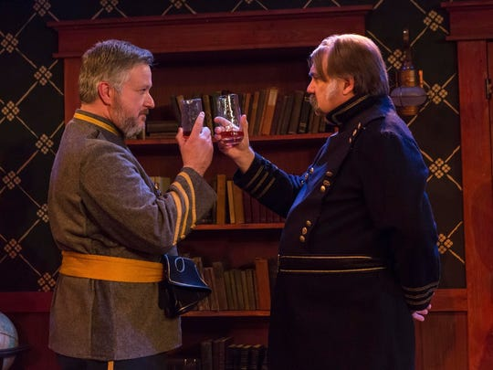 "Doug Powers plays Major Cary, from the Confederacy, and Stephen Hunt plays Union General Butler in the play ""Butler."""