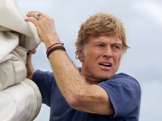 "Robert Redford was 76 when he played a man stranded at sea in 2013's ""All is Lost."""